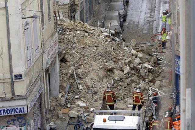 Crollo palazzina a Marsiglia